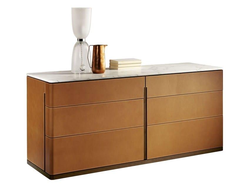 Tanned leather dresser FIDELIO | Dresser - Poltrona Frau