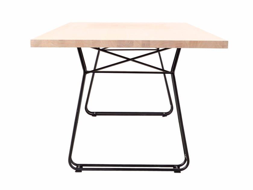 Rectangular wooden table FIGURA - KFF