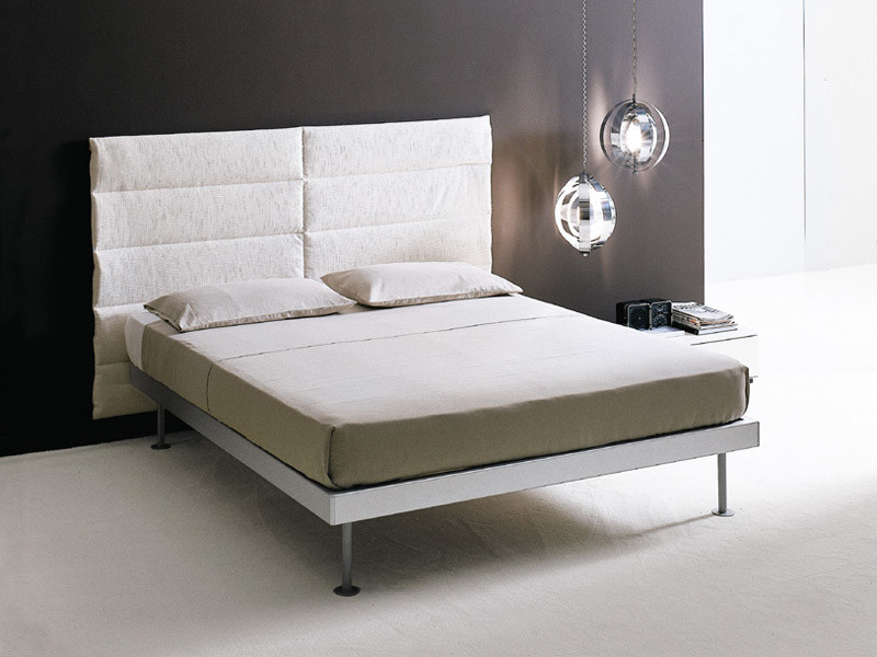 Fabric double bed with upholstered headboard FILIPPO | Double bed - EmmeBi
