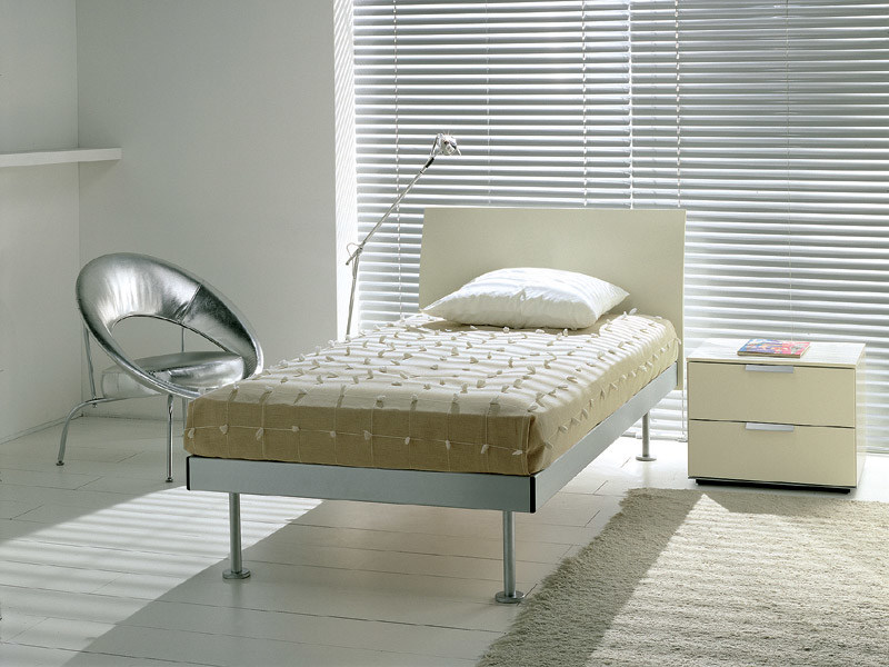 Lacquered wooden single bed FILIPPO | Single bed - EmmeBi