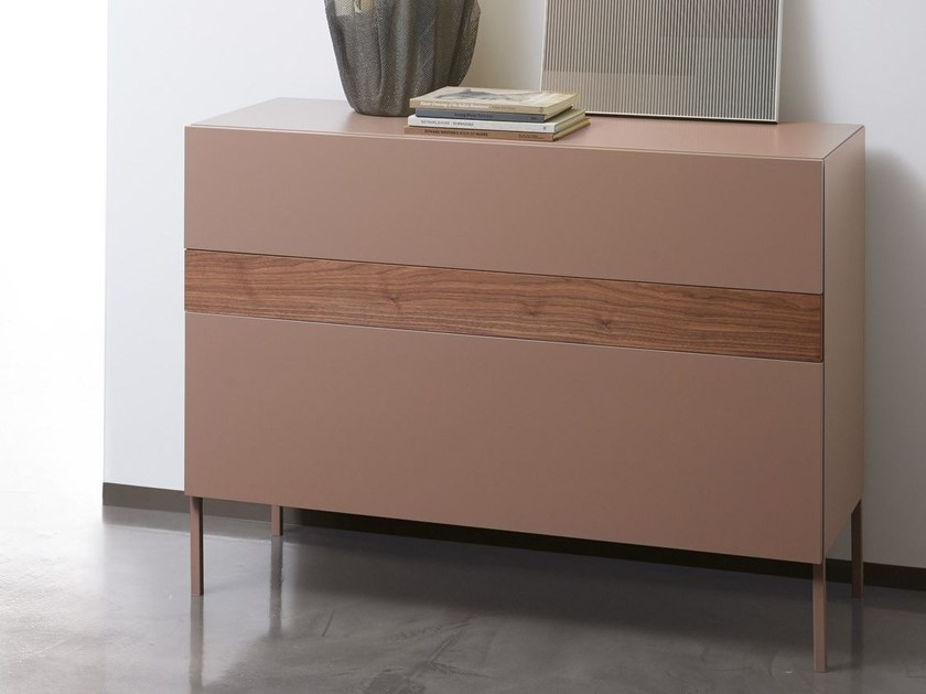 Free standing lacquered chest of drawers F5KXH65 | Lacquered chest of drawers - Caccaro