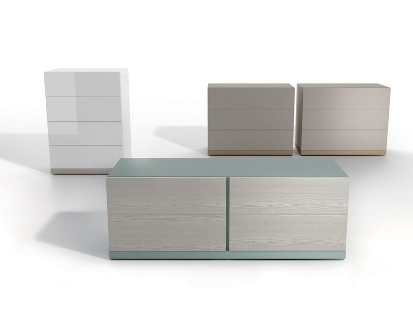Free standing lacquered wooden chest of drawers LXA36 | Free standing chest of drawers - Caccaro