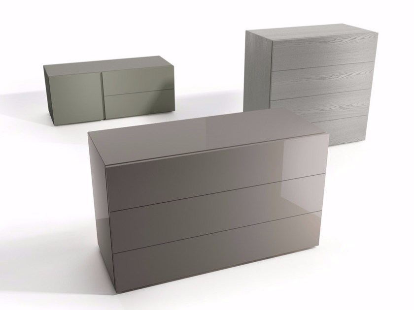 Lacquered wooden chest of drawers FILNOX | Chest of drawers by Caccaro