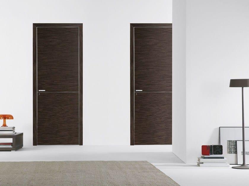 Flush-fitting wooden door FILO A FILO - WOOD - PORTEK by LEGNOFORM