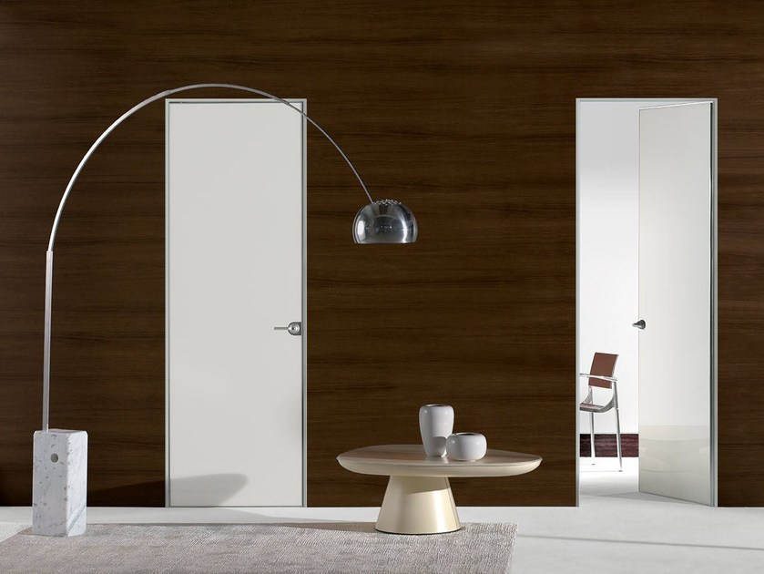 Hinged lacquered glass door FILO ZERO - POLISHED GLASS - PORTEK by LEGNOFORM