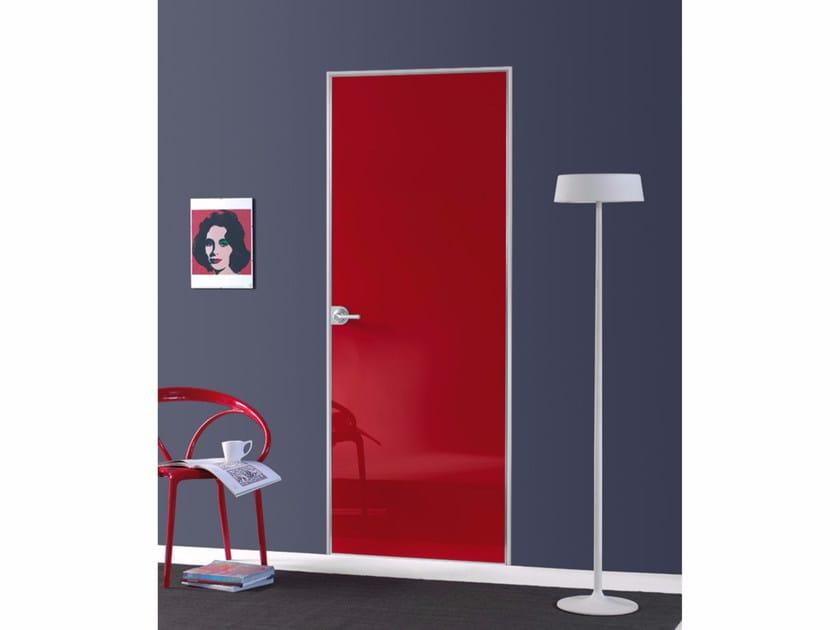 Flush-fitting door FILO ZERO - POLISHED GLASS - PORTEK by LEGNOFORM