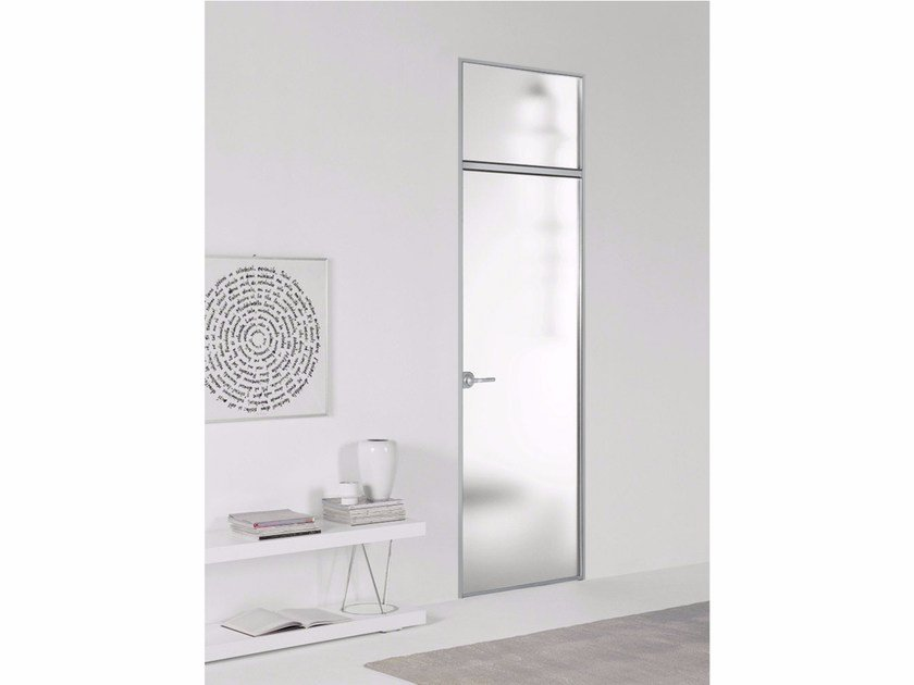 Hinged door without frame FILO ZERO - SATIN GLASS by PORTEK by LEGNOFORM