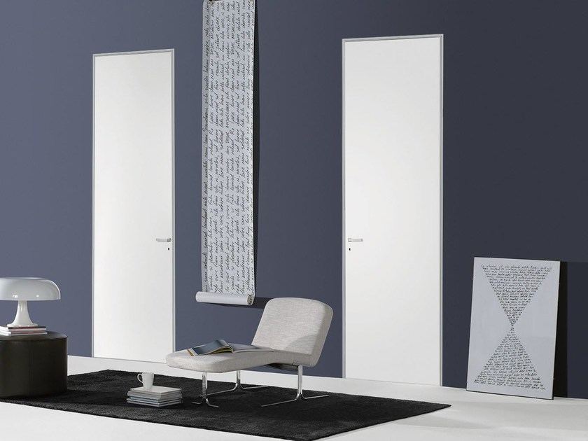 Hinged flush-fitting door FILO ZERO - LACQUERED - PORTEK by LEGNOFORM