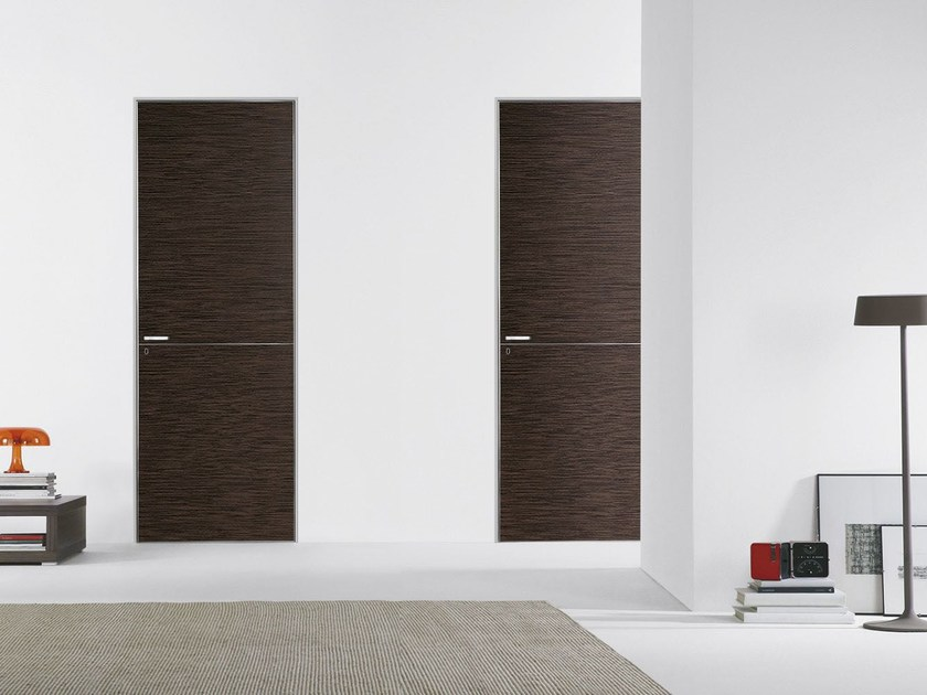 Flush-fitting wooden door FILO ZERO - WOOD by PORTEK by LEGNOFORM