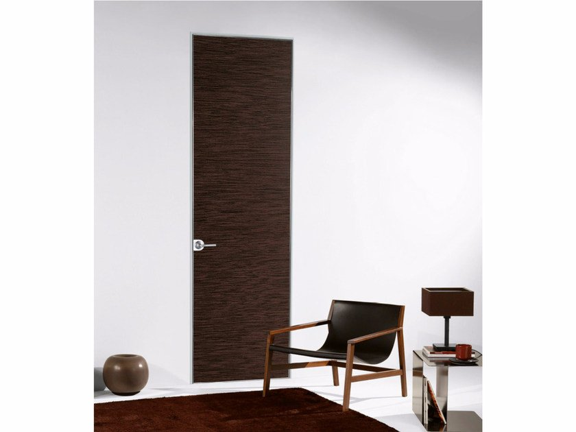 Contemporary style hinged flush-fitting wooden door with concealed hinges FILO ZERO - WOOD - PORTEK by LEGNOFORM