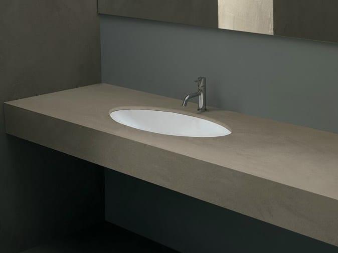 Contemporary style undermount oval ceramic washbasin FILO70 - Alice Ceramica