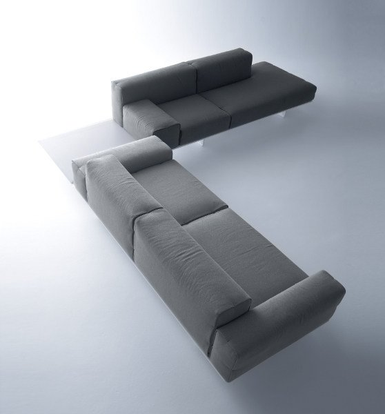 Corner sectional fabric sofa FIN | Corner sofa - MDF Italia