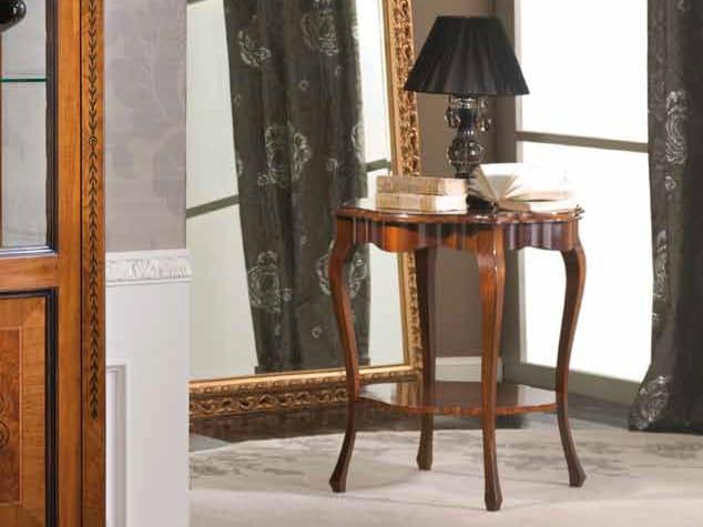 Tavolino rotondo in legno massello FIORE - Arvestyle