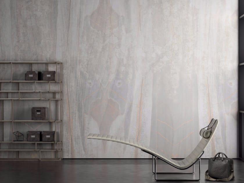 Wood effect vinyl wallpaper FIREFLY by GLAMORA