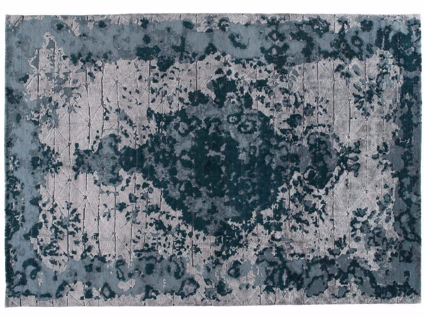 Tappeto fatto a mano rettangolare in lana e seta FIRUZABAD EMERALD - Golran