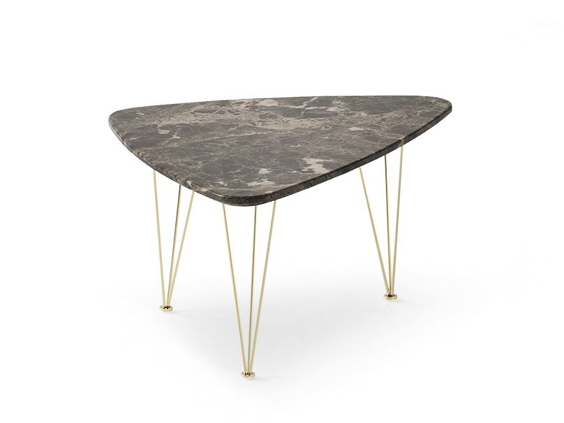 Triangular marble coffee table FLAMINGO | Triangular coffee table - Felis