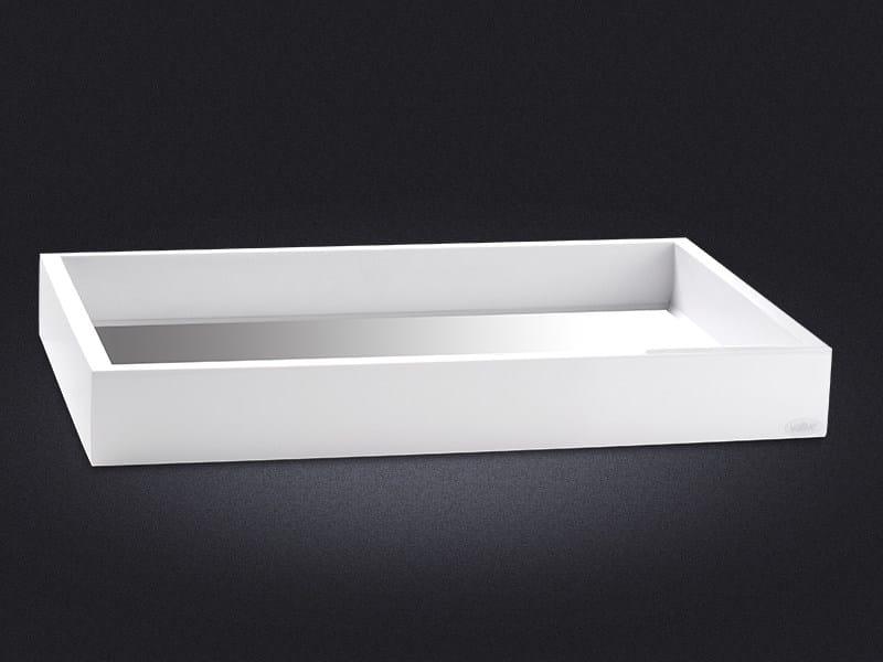 Vassoio rettangolare in resina FLAP | Vassoio rettangolare - Vallvé Bathroom Boutique