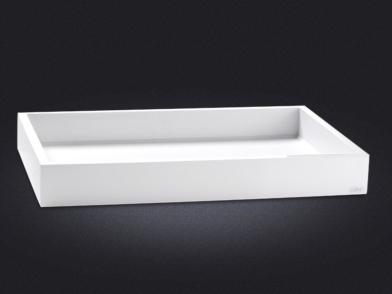 Rectangular resin tray FLAP | Tray - Vallvé Bathroom Boutique