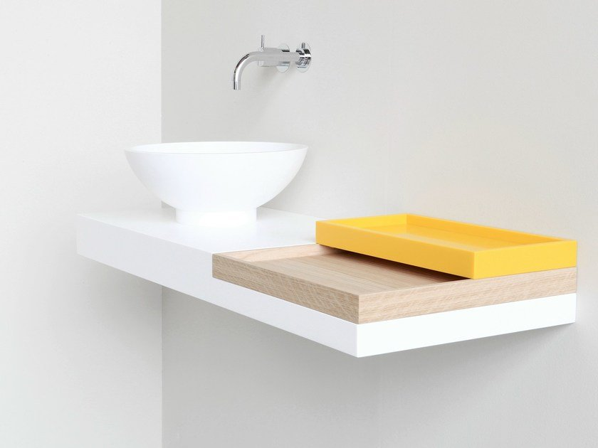 HI-MACS® washbasin countertop FLAT - Not Only White