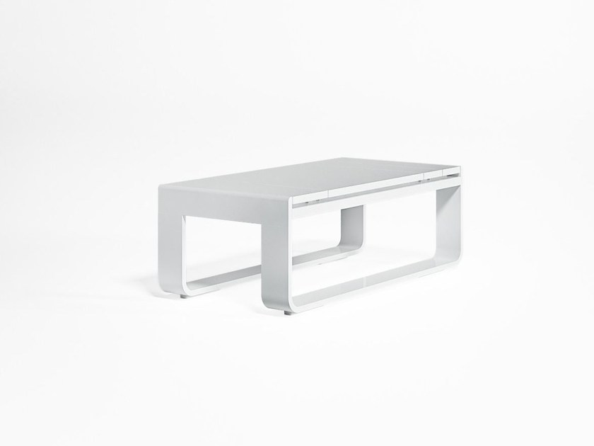 Low rectangular thermo lacquered aluminium garden side table FLAT | Rectangular coffee table - GANDIA BLASCO
