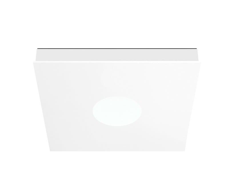 Steel ceiling light FLAT SQUARE | Ceiling lamp - ONOK Lighting