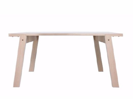 Rectangular multi layer wood dining table FLAT TABLE SMALL
