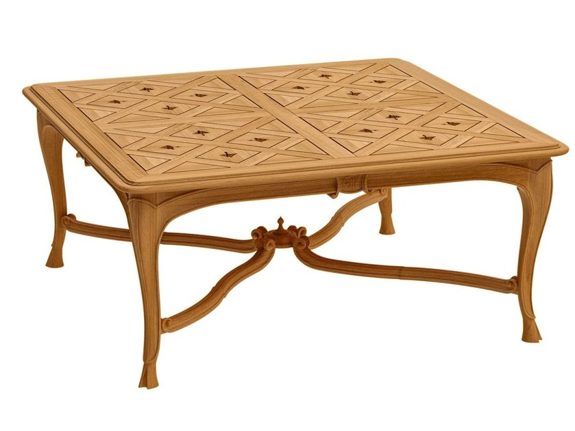 Square teak coffee table FLEUR DE LYS | Square coffee table - ASTELLO