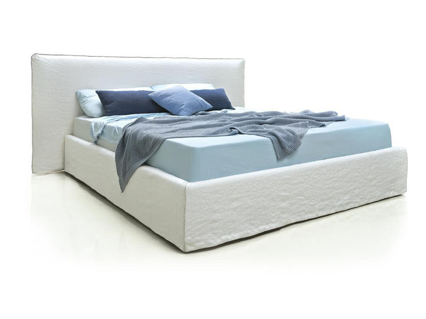 Upholstered fabric double bed FLEXY by Papadatos