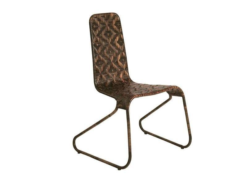 Woven wicker chair FLO CHAIR - Driade