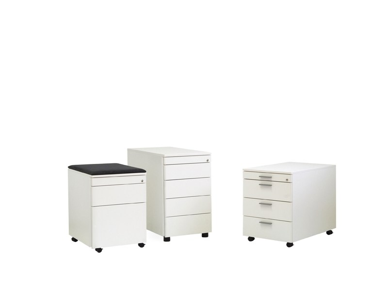 Wood-product office drawer unit with casters FLOAT_FX | Office drawer unit by Wiesner-Hager