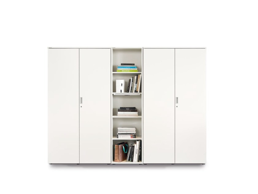 Tall office storage unit with hinged doors with lock FLOAT_FX | Modular office storage unit by Wiesner-Hager