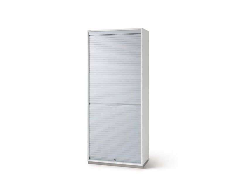 Tall office storage unit with tambour doors FLOAT_FX | Office storage unit with tambour doors - Wiesner-Hager