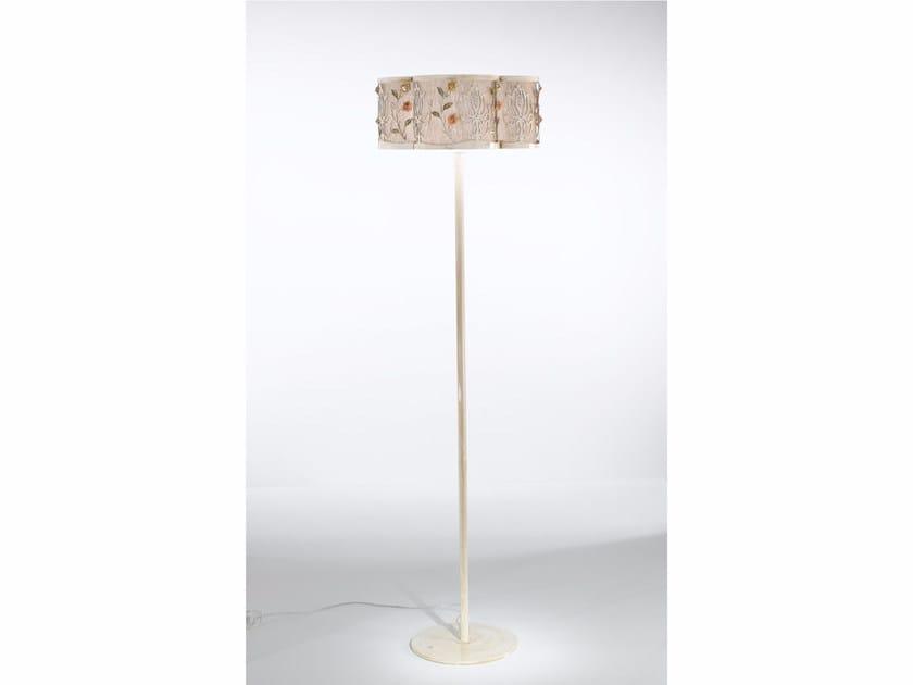 Fabric floor lamp with Swarovski® crystals MARGOT   Floor lamp by IDL EXPORT
