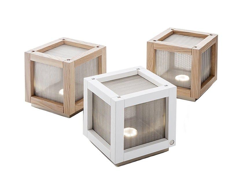 Oak table lamp WOODY   Table lamp - IDL EXPORT