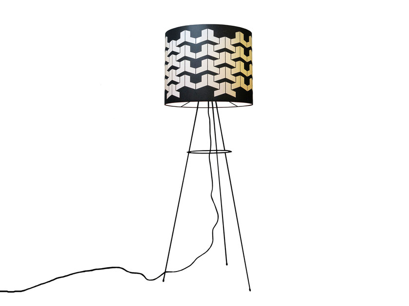 Fabric floor lamp OPTICAL | Floor lamp - Kappennow