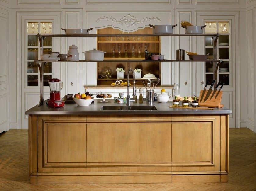 Floral cucina con isola by l 39 ottocento - L ottocento mobili ...