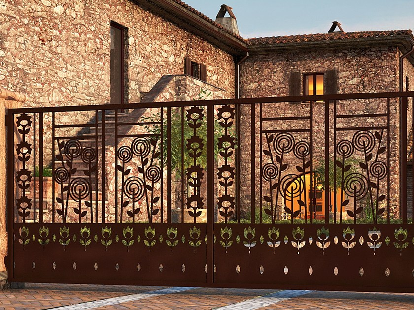 Swing Motorized iron gate FLOREALE 908 - Fabbridea