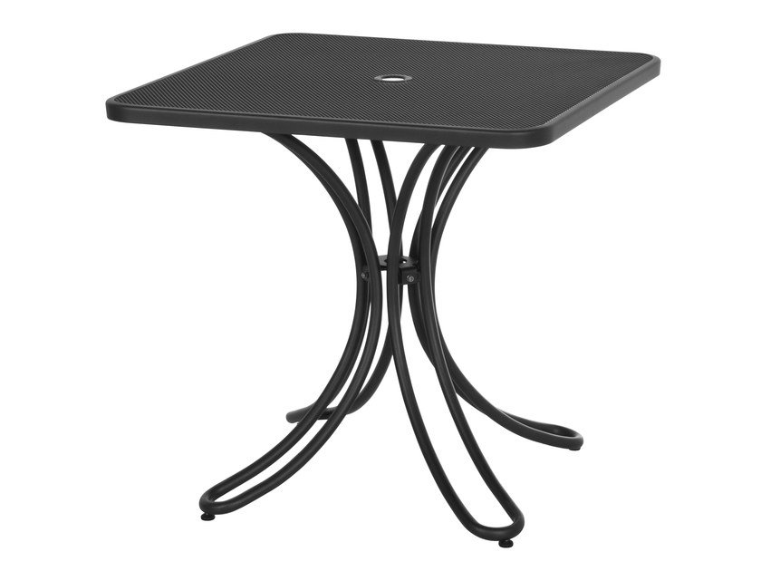 Square steel garden table FLORENCE | Square table - EMU Group S.p.A.