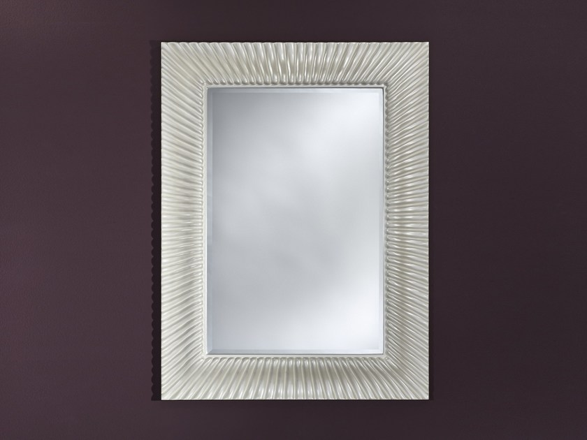 Rectangular wall-mounted framed mirror FLOT PEARL - DEKNUDT MIRRORS