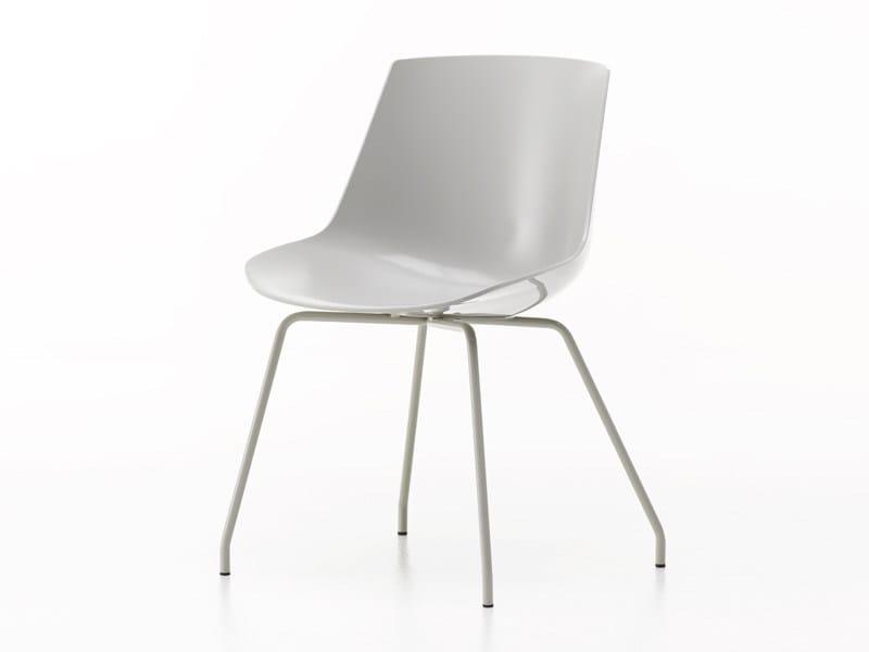 Polycarbonate chair FLOW CHAIR | Chair - MDF Italia