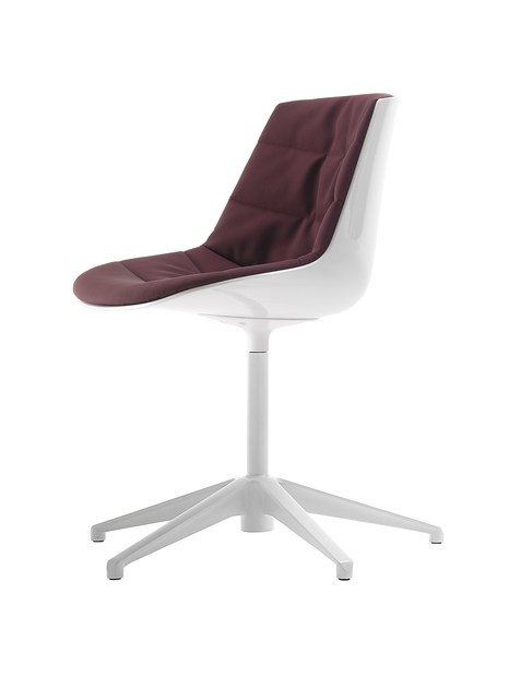 Swivel upholstered chair with 4-spoke base FLOW CHAIR | Chair with 4-spoke base by MDF Italia
