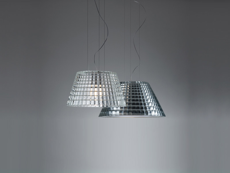 Glass pendant lamp FLOW | Pendant lamp - Fabbian