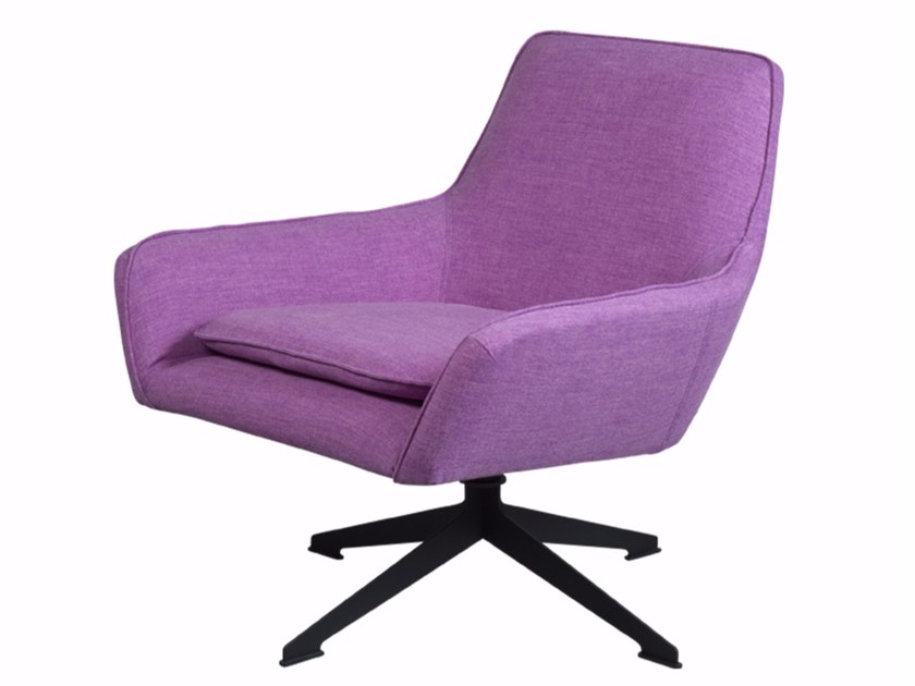 Swivel fabric armchair FLOYD SOFT - Palau