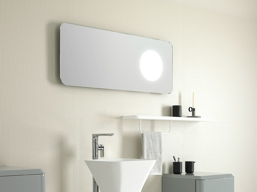 Rectangular mirror with integrated lighting FLUENT | Rectangular mirror - INBANI