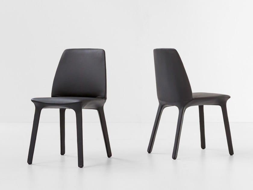 Leather chair FLUTE - Bonaldo
