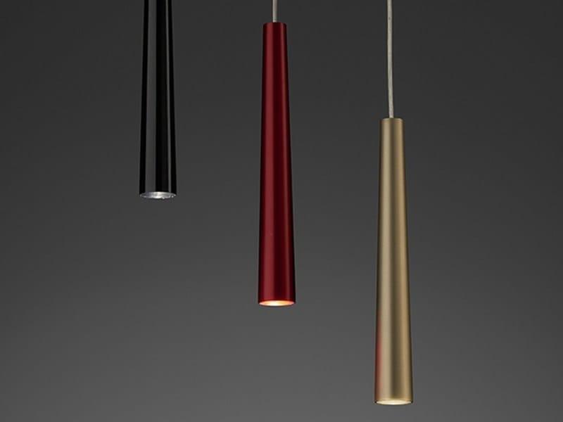 LED direct light aluminium pendant lamp Flute | Flute Micro - PURALUCE