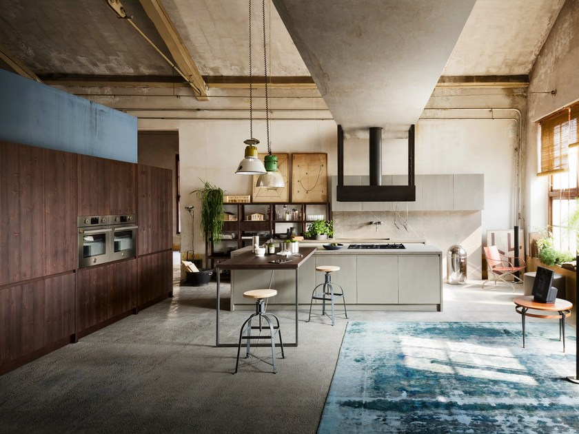 Kitchen with peninsula TOURS - Callesella Arredamenti S.r.l.