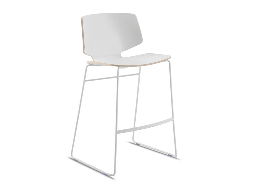 Counter stool with footrest FLY-TR | Counter stool - DOMITALIA