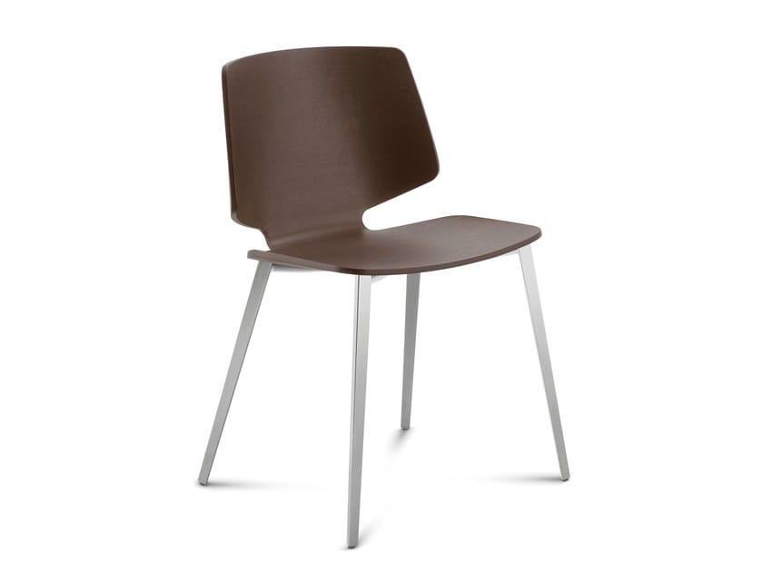 Multi-layer wood chair FLY-TR | Chair - DOMITALIA