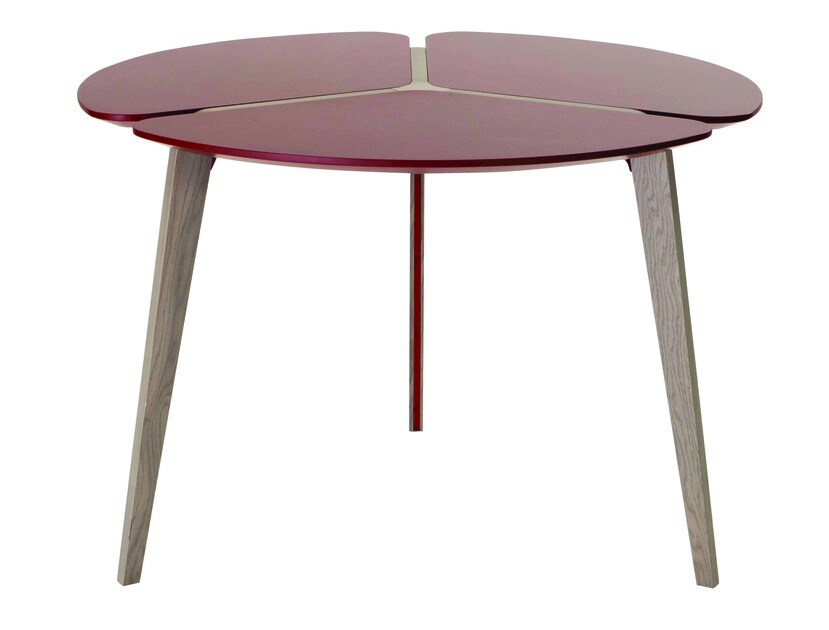 Lacquered round MDF dining table FLYING FLOWER by ROCHE BOBOIS